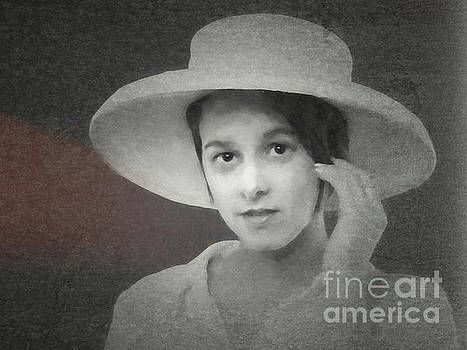 Girl With Hat  ... by Chuck Caramella