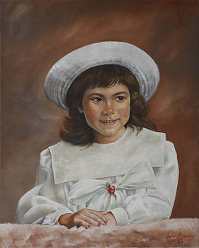 Girl with Hat by Harvie Brown