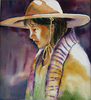 Girl with Hat by Libby  Cagle