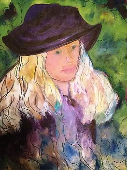 Girl with Hat Study by Patricia Taylor