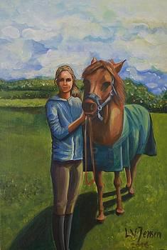 The girl with the horse  by Ljiljana Jensen
