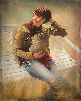 Girl With Rabbit by Bellesouth Studio