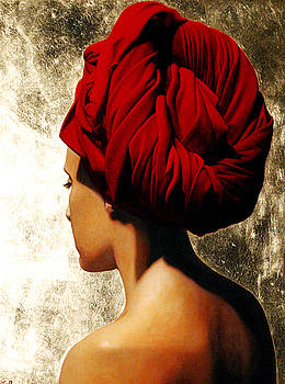 Girl With Red Turban by Toby Boothman