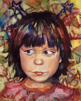 Girl with Star Headband by Rosamond Gross