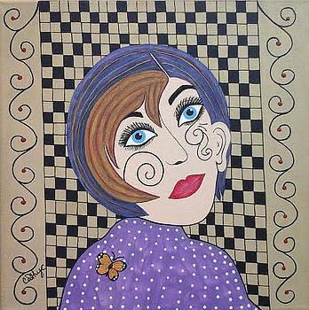 Girl with Tattoo face by Catherine Velardo