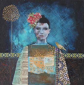Girl with the bird by Johanna Virtanen