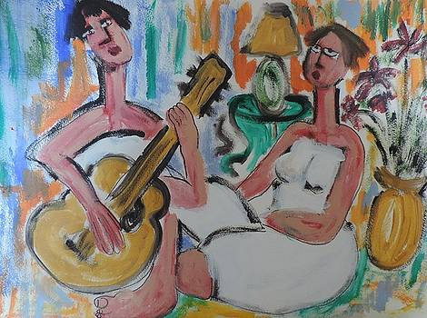 Girlfriends with Guitar by Nancy Denommee
