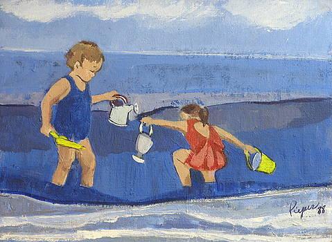 Betty Pieper - Girls on Beach