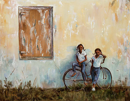 Girls With A Bike by Ray Cole