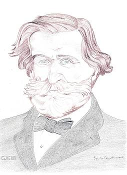 Giuseppe Verdi Portrait by Bernardo Capicotto