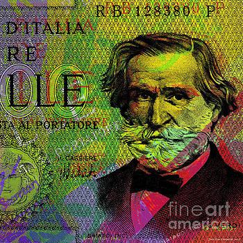 Giuseppe Verdi portrait banknote by Jean luc Comperat