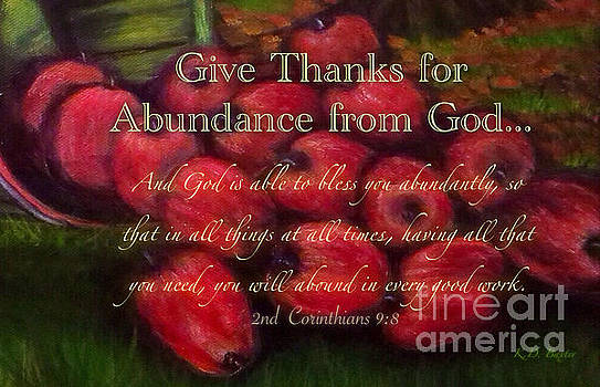 Give Thanks for Abundance from God by Kimberlee Baxter