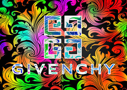Ricky Barnard - Givenchy Multi Color With Abstract Background