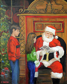 Carolyn Shireman - Giving the List to Santa