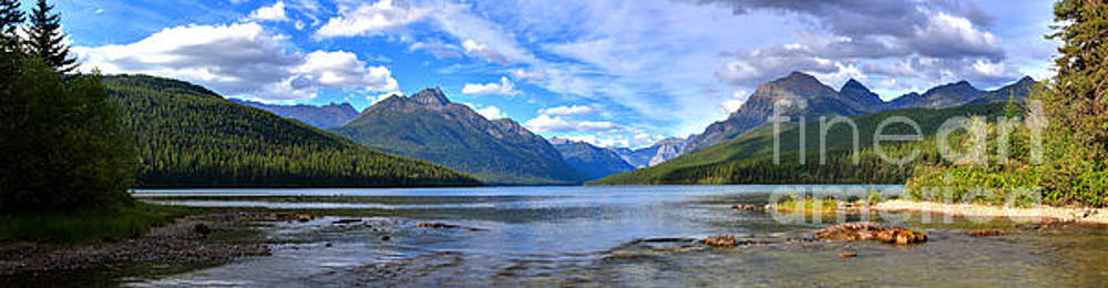 Adam Jewell - Glacier Bowman Lake Panorama