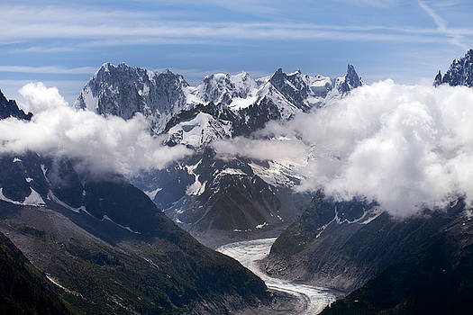 Aivar Mikko - Glacier de la Mer de Glace and Clouds