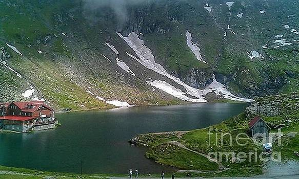 Glacier lake by Hilary England