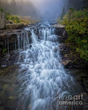 Glacier National Park Waterfall by Jerry Fornarotto