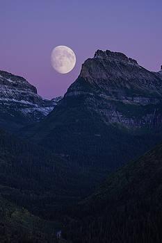 Jedediah Hohf - Glacier Park Moon, Montana