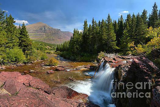 Adam Jewell - Glacier Red Rock Falls Landscape