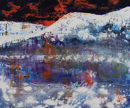 Glacier reflections by Walter Fahmy