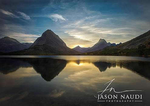 Glacier Sunset by Jason Naudi