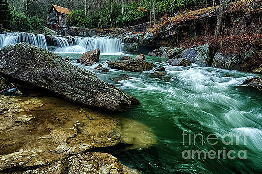 Glade Creek and Grist Mill by Thomas R Fletcher