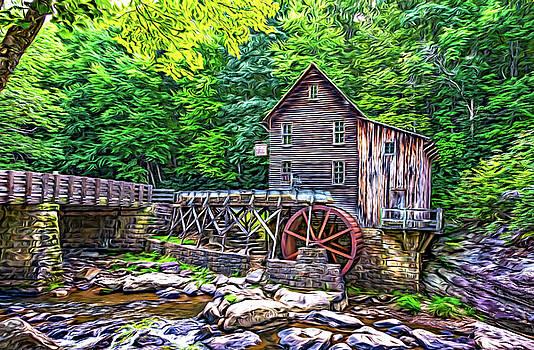 Glade Creek Grist Mill 2 - Paint 2 by Steve Harrington