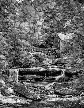 Steve Harrington - Glade Creek Grist Mill 3 - Overlay bw