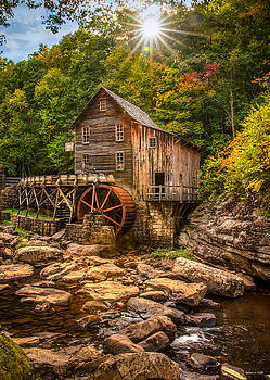 Glade Creek Mill Fall by Rebecca Hiatt