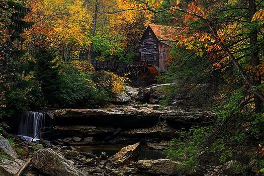 Glades Creek Grist Mill West Virginia by Carol Montoya