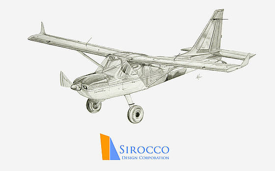 Glasair Sportsman TC with Sirocco Design Corp. Winglets Logo 3 by Nicholas Linehan