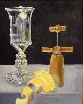 Glass Lemon and Cork Screw by Bron Bronzini