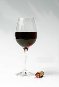 Glass of red wine by Patricia Hofmeester