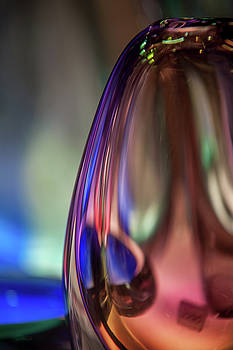 Glass Vase Abstract by Jenny Rainbow