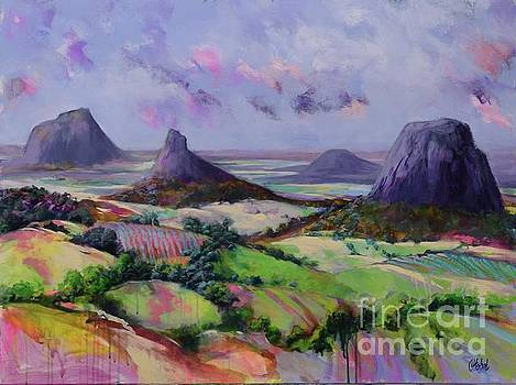 Glasshouse Mountains Dreaming by Chris Hobel