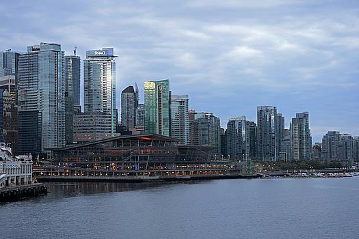 Connie Fox - Gleaming Cityscape. Vancouver at Dawn