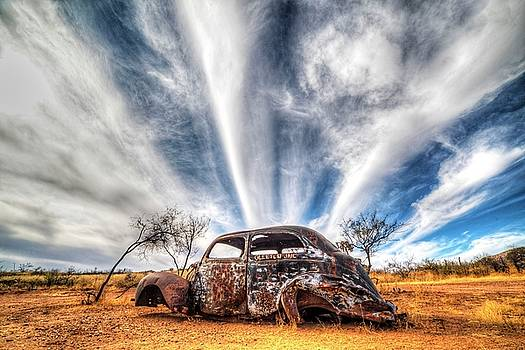 Gleeson Arizona Rusted out VW Beetle by Toby McGuire