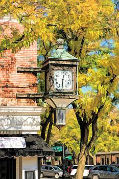 Glen Ellyn Corner Clock by Christopher Arndt