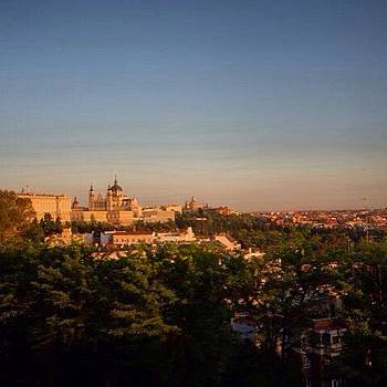 Glimpse Of Madrid At Sunset by Stefano Bagnasco