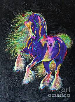 Glitter And Gold Pony by Louise Green