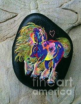 Rock 'N' Ponies Glitter 'N' Gold Pony by Louise Green