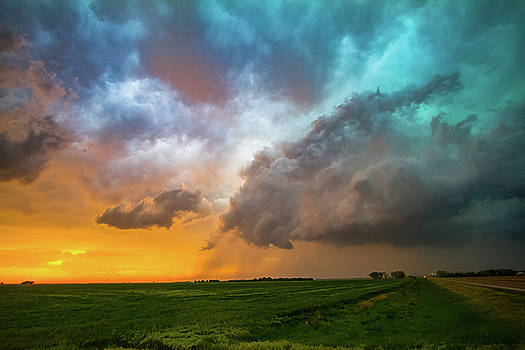 Glorious - Storm Clouds at Sunset in Kansas by Sean Ramsey