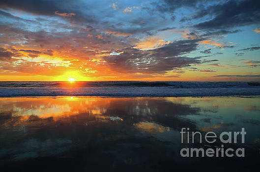 Glorious Sunset by E Williams