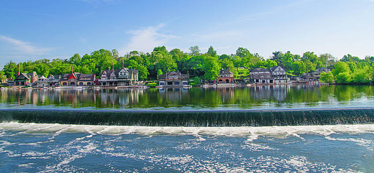 Glorious View from Fairmount Dam - Boathouse Row Philadelphia by Bill Cannon