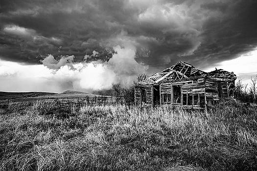 Glory Days - Abandoned House in Black and White in Kansas by Sean Ramsey