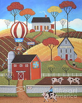 Gloucestershire Village by Mary Charles