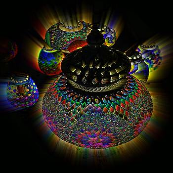 Glowing Lanterns by Digital Art Cafe