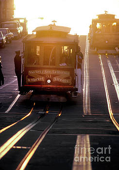 Glowing Magical Cable Cars on Nob Hill by Wernher Krutein