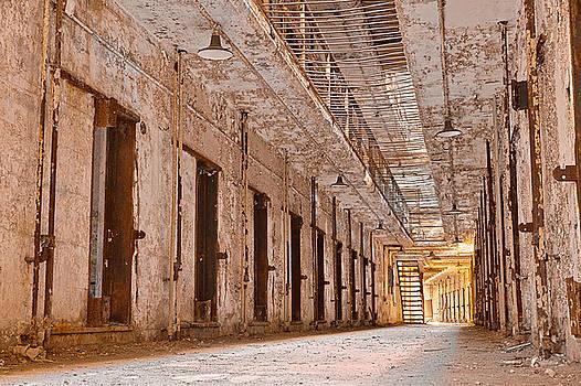Glowing Prison Corridor by Nicolas Raymond